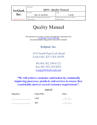28 quality manual template quality manual template 8 download