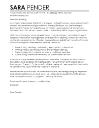 best legal assistant cover letter examples livecareer