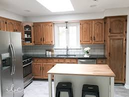 how to update oak kitchen cabinets before and after updating a 90s kitchen without painting cabinets