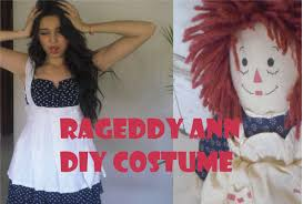 raggedy ann doll diy halloween costume makeup youtube