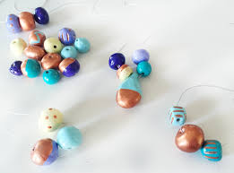 colorful clay jewelry craft for kids imagine our life