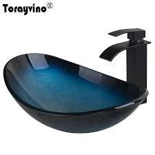 online get cheap glass sink bathroom aliexpress com alibaba group
