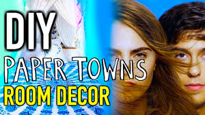 Paper Town Map Diy Room Decorations Paper Towns Inspired Youtube