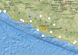 Guerrero Mexico Map by Mexico U0027s Good Friday Earthquake M7 2 18 April 2014