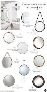 round bathroom wall mirrors myriada co