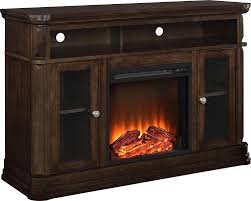 wood corner electric fire place flame heater media storage