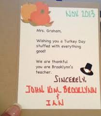 thanksgiving card for parents kindergartenklub