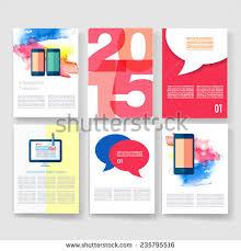 templates set flyer brochure design templates stock vector