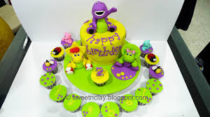barney birthday cake sweet clay barney and friends cake