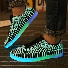 light shoes for mens luminous led shoes women men unisex rubber fashion casual lighted