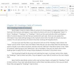 Create Table Of Contents In Word 2013 How To Create A Table Of Contents In Word 2013 Teachucomp Inc