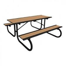 6 u0027 rectangular picnic table with galvanized legs picnic tables