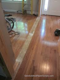 patching wood floors sawdust