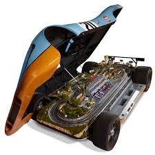 porsche life size lifesize porsche 917 le mans raceway slot car track the green head