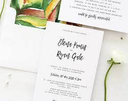 Blank Wedding Invitation Kits Hawaii Wedding Invitations Etsy