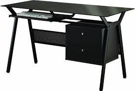 Office Desk Black Furniture Black Computer Metal Desk Design The Use Of Black