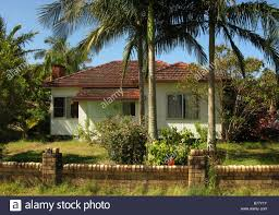 old fifties style fibro tropical bungalow at byron bay australia