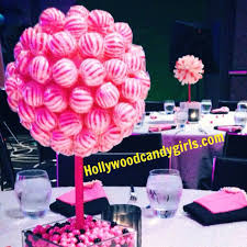Pink And Black Candy Buffet by Pink White Black Lollipop Sucker Striped Candy Land