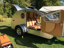 Teardrop Camper With Bathroom Tiny Teardrop Trailer Has Huge Windows For Stargazing Curbed