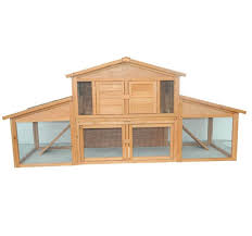 Rabbit Hutch Extension Pawhut Large Bunny Rabbit Hutch Chicken Coop With Large Outdoor