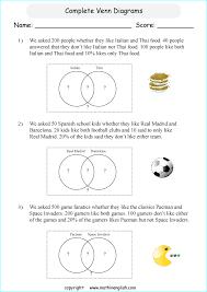 printable venn diagram worksheets for grade 6 or 7 math students