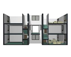 double sided apartments misfits u0027 architecture