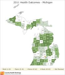 Michigan State Land Map by Michigan Rankings Data County Health Rankings U0026 Roadmaps