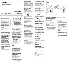 sony clock radio manual sony icf c1 user manual 2 pages also for icf c1white icf c1black