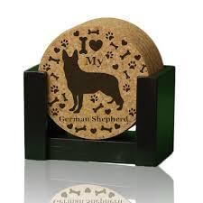 urban dog ring holder images I love my german shepherd quot premium coaster set add a rustic or jpeg