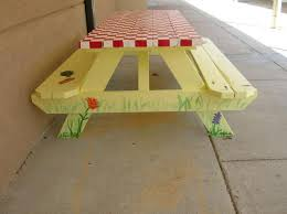 Designs For Wooden Picnic Tables by 56 Best Grams Picnic Table Images On Pinterest Painted Picnic