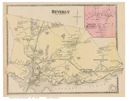 Massachusetts Map Of Towns by Beverly South Beverly Massachusetts 1872 Old Town Map Reprint