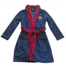 chambre à barcelone robe de chambre peignoir fc barcelone officiel enfant bleu achat