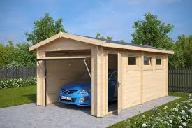 wooden garage an inexpensive and stylish haven for your car