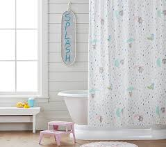 rainy day critters shower curtain pottery barn kids
