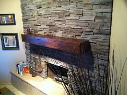 beautiful distressed knotty alder fireplace mantel finished in