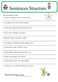 how to write a sentence worksheets worksheets