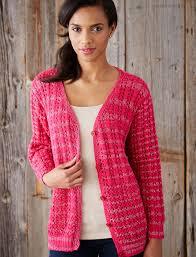 Mixed Patterns by Patons Mixed Stitch Cardigan Knit Pattern Yarnspirations