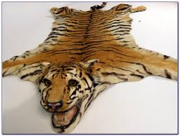 real tiger skin rug with head roselawnlutheran