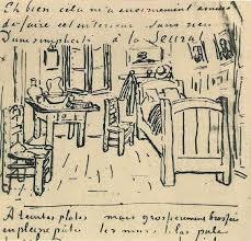 la chambre à coucher gogh vincent gogh croquis de la chambre à coucher 1888 carnet de