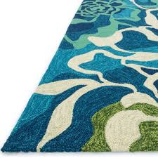 Aqua Outdoor Rug Shop Ventura Floral Wave Aqua Outdoor Rug 7ft 10in Loloi