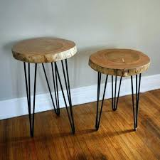 tree stump accent table wood stump end table stump end tables tree stump end table hairpin