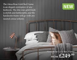 Rose Gold Bed Frame The Range New In Alexa Rose Gold Bed Frame Shop Late Summer