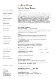 security guard resume example cover letter for security guard