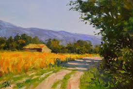 Impressionist Landscape Painting by Stone Farmhouse U2013 French Countryside Impressionist Style