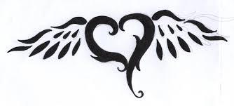 heart and wings tattoo design by bluejessiejem on deviantart