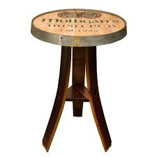 Whiskey Barrel Pub Table Personalized Whiskey Barrel Head Pub Table Hand Carved In The Us