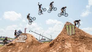 motocross bike games ryan nyquist lands 720 barspin on mountain bike