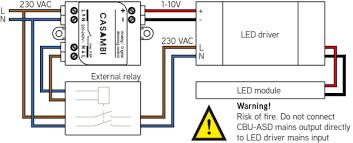 0 1 10v dali interface connected light ledsgo