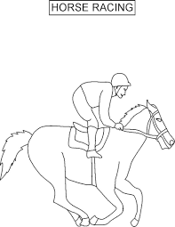 coloring pages of horses racing inside jockey silks eson me