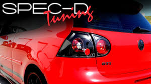 red volkswagen jetta 2008 specdtuning installation video 2006 2008 vw golf gti tail lights